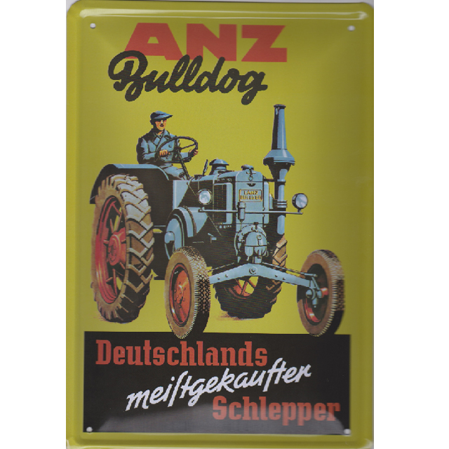 Plechová Cedule Traktor Bulldog, 20x30cm
