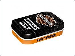Retro mint box 6x4cm, bonbony, Harley Davidson, Riders only